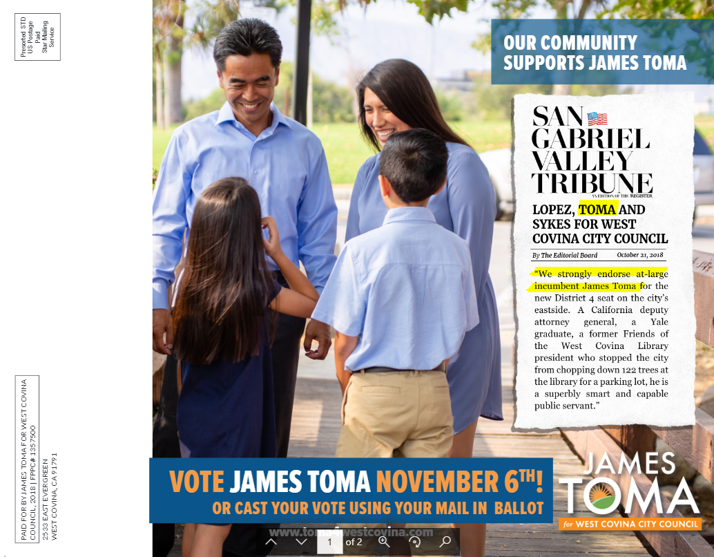 James Toma for West Covina – Just another WordPress site